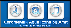 ChromeMilk Aqua Icons by amitsaraf32