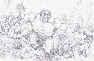 The Hulk: Triumphant! (Pencils) by dondalier