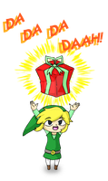 Toon Link Christmas Card by beanielova