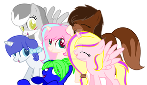 my new mane 6 (art suicide I tell you) by puddycat431