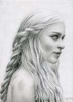 Daenerys Targaryen Game of Thrones by Bajanoski