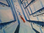 Fox in the snow paint by Bartok88