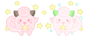 Clefairy Sisters by TinyWalrus