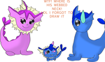 :AT: Vaporeon Family by bridgie00