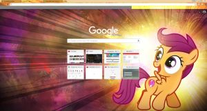 Scootaloo Crome skin Update with CM by BaronBronie