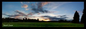Fiery Sky Panorama by LushChiller