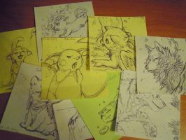 8 cm sketches by azzai