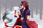 Okami winter love by sdark123