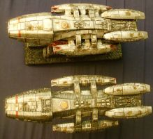 'Sister Ships' BSG-47 + BSG-75 by Roguewing