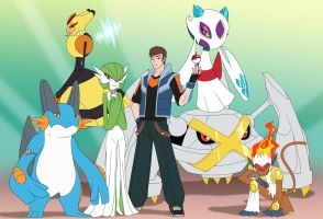Pokemon Omega Ruby team by crovirus