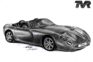 TVR Tuscan Cabrio Drawing by toyonda