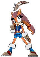 Sticks the Badger - Sonic canon by jacobmester