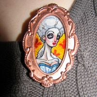 Madame Booby Brooch by asunder