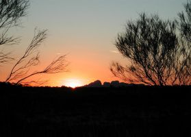 Kata-Tjuta sunset by postaldude66