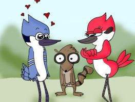 Regular Show - Bird Love by AJMSTUDIOS