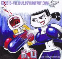 Eva vs Lindsay in Pens by Cid-Vicious