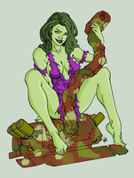 She Hulk by Stalk by TULIO19mx