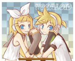 Kagamine Rin and Ren by HaneRP