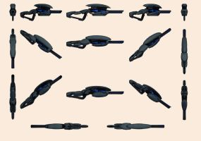 Mass Effect, Geth Sniper Rifle - Model Reference. by Troodon80