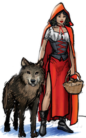 red riding hood concept color by lussybussy