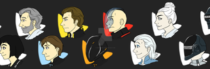 Tron: Legacy Busts by forte-girl7