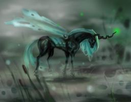 Chrysalis Queen of the Changelings  by Egretink