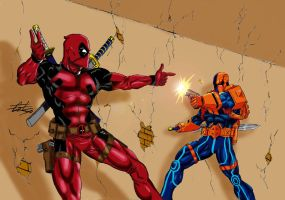 Deathstroke VS Deadpool by celsohenrique