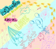 Sweet Doodles Gimp Brushes. by RBK-BEL