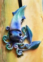 Blue Squid Charm by BlackMagdalena