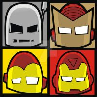 Iron Man Evolution Square Face by HeadsUpStudios