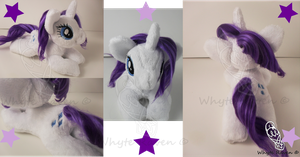 Rarity MLP Plushie by Whyte-Raven