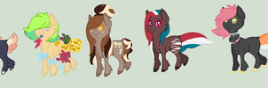 5 Very Plain Ponies by BluesStuff