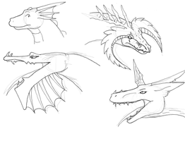 Some more dragon head shots by CrystalCircle