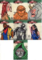 Marvel Masterpieces 3 Set 3 by Bloodzilla-Billy