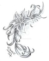 Flower Climb Tattoo Design by 2Face-Tattoo