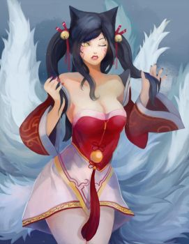 Ahri twintail by pinnippin