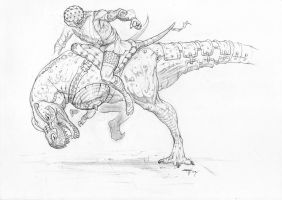 T-Rex Rider by fabbro85