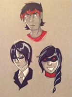 Black Haired Beauties by OCT-Willpower