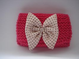 Tie Bow Sweet Wallet polka dot knit by daisycolors