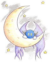 Meta Knight moon by Tigermix