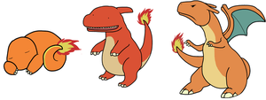 Charmander to Charizard by HappyCrumble