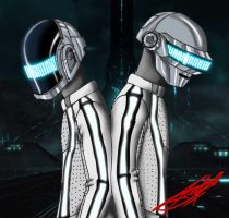 Daft Punk on Tron:Legacy by Gutenks