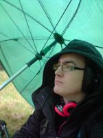 TechDave under a Brolly by Tech-Dave