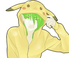 Kuma In A Pikachu Suit :3 by shadowrazer666
