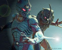 Guyver Showdown by petshop00