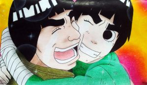 #24 Gai and Rock Lee by ColorfulChan