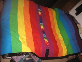 Rainbow Quilt - Backing by setralynn
