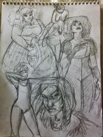 Oodles of Doodles 3- figure drawings by SpicePrincess