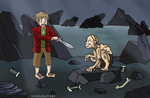 Riddles In the Dark - The Hobbit Ghibli Style by Juggernaut-Art
