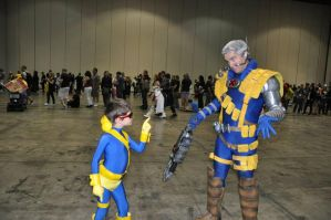 Cyclops Scolding Cable by ComicChic19